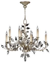 fine art lamps 753140st crystal laurel warm silver leaf chandelier