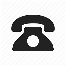 Black Contact Phone Phone Book Telephone Vector Icon