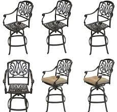outdoor patio swivel bar stools cast