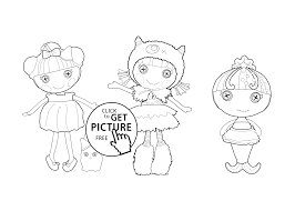 Small Picture Lalaloopsy coloring sheet for kids printable free coloing 4kidscom