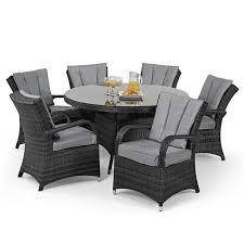 maze rattan 6 seat texas round dining garden furniture set grey 1228 p jpg