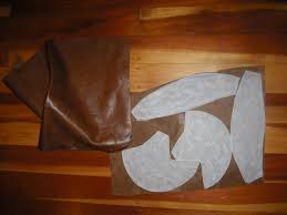 preparing the leather pieces