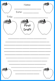 Unique Apple Writing Templates: Fun Back To School Printable Worksheets