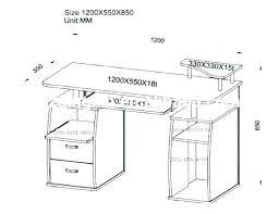 Standard Desk Size Standard Desk Sizes Dimensions Mm