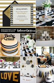 White And Gold Decor Online Baby Shower Invitations Chic White Black Gold Sophisticated