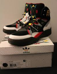 adidas 55 shoes. image is loading adidas-dikembe-mutombo-rare-black-red-55-sneakers- adidas 55 shoes u