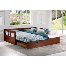 trundle daybed with storage. Exellent Storage Melody Twin To King Trundle Daybed With Storage Drawers Chestnut Throughout With