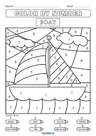 Coloring pages are fun for children of all ages and are a great educational tool that helps children develop fine motor skills, creativity and color recognition! Free Color By Number Worksheets Cool2bkids
