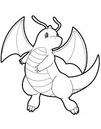 Small Picture Pokemon Coloring Pages Dragonite Pages Dragonite Cartoons Pokemon