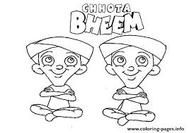 Small Picture Chota Bheem Characters Dhole and Bhole Coloring pages Printable
