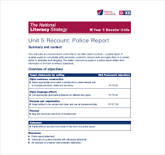 Crime Report Template Extraordinary 48 Police Report Templates Free Sample Example Format Download