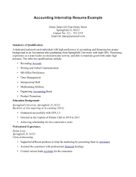 Accounting Intern Resume The Best How To Write An Internship On