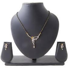 american diamond mangalsutra set by vendee fashions mangalsutra sets cj