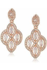 anne klein women 8 ct 333 cubic zirconia dangle drop earrings 60449888 pink