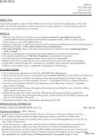 Special Police Officer Sample Resume Amazing Law Enforcement Resume Templates Sample Resume For Police Officer