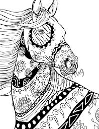 Small Picture Horses Coloring Pages Free And Horse For Adults diaetme