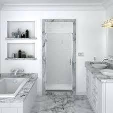 accent distinctive and versatile 1 4 glass shower door tub enclosures frameless bathtub doors frosted