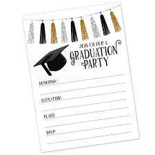 Design Grad Party Invites Graduation Party Invitations 20 Count With Envelopes Commencement Reception Invite High School College University Graduate School