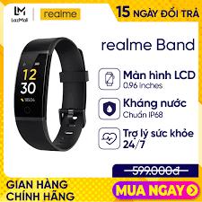 Shop bán Vòng đeo tay thông minh Realme Band Màn hình 0.96 inches LCD TFT  Đo nhịp tim Theo dõi giấc ngủ l 9 chế độ thể thao Chống nước IP68 l