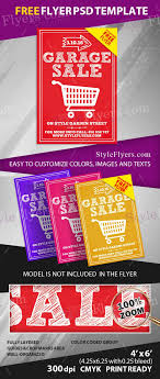 016 Template Ideas Garage Sale Flyer Free Preview Psd