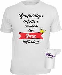 Geschenkset Werdende Oma T Shirt Set Geburtstag Lustiges Sprüche