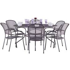 patio table and 6 chairs: outdoor table and chairs aluminium metal patio table and  chairs