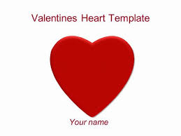Heart Powerpoint Templates Valentines Heart Powerpoint Template