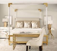 Acrylic bedroom furniture White Ash Aiden Acrylic Canopy Upholstered Bed Bed Down Furniture Gallery Aiden Acrylic Canopy Upholstered Bed Bedsbedroom Furniture Bed