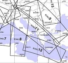 Air Navigation Charts Europe High Altitude Enroute Chart Europe Hi 11 12 Italy Austria Adriatic Sea Greece E Hi 11 12 Jeppesen E Hi 11 12