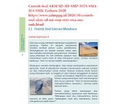 Com situs tentang kumpulan soal sd, smp, sma, cpns dapat didownload gratis sepenuhnya milik anda. Contoh Soal Akm Sma