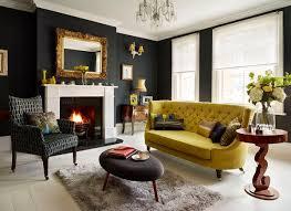 modern black white blue living room