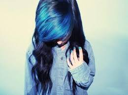 Pin by jami hale on Funky Hair | Hair styles, Blue hair, Long curly hair