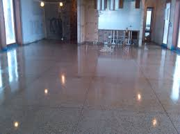 Polished Concrete Kitchen Floor Dark Polished Concrete Floor In Floor Lighting In Concrete Living