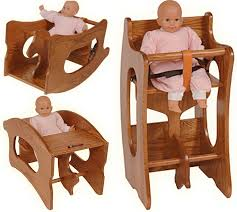 amish childs high chair rocking horse childs desk oak or cherry baby furniture