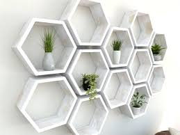charming decoration white hexagon wall shelves hexagon wall shelf rustic white hexagon wall shelf in solid