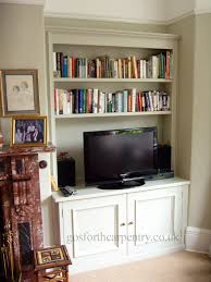 gosforth carpentry design traditional bespoke fitted alcove cupboard shelving unit