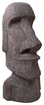 giant easter island moai head