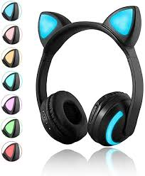 Luckyu <b>Wireless Bluetooth Cat Ear Headphones</b> with Mic 7 Colors ...