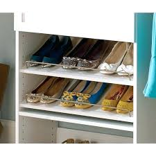 closetmaid shoe organizer in angled shelves 5dc63840