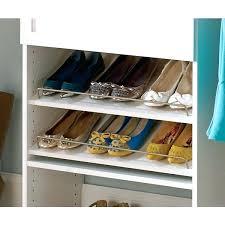closetmaid shoe organizer in angled shelves 5dc63840