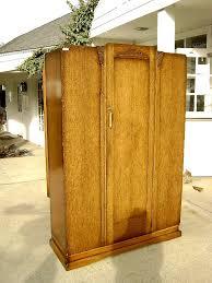 enlarge photo antique english mahogany armoire furniture