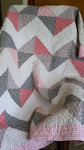 Baby Quilts On Etsy | Kenyalfashionblog.com & Pink And Gray Chevron Lap/Baby Quilt By KarmensQuilts On Etsy, $85.00 Adamdwight.com
