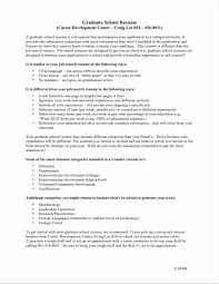 Free Resume Templates For Graduate School Application