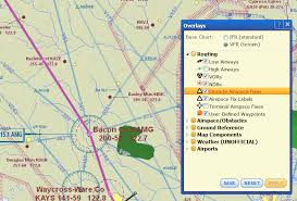 Aopa Charts Displaying Enroute And Terminal Fixes Waypoints On Chart