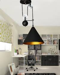 stunning pendant lighting room lights black. Industrial Style Retro Pulley Spindle Lift Pendant Lights Black Aluminum Iron Cone Shape Lampshade Antique Edison Stunning Lighting Room Q