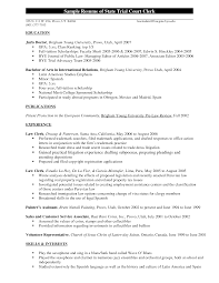 sample law clerk resumes