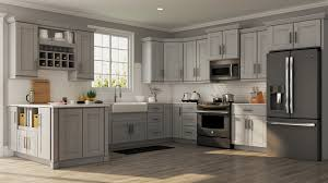 Shaker Specialty Cabinets In Dove Gray Kitchen The Home Depot