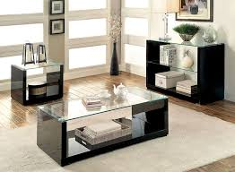 glass top coffee table set interior