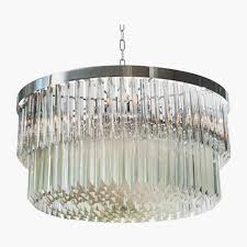 53 most mean two tier drum chrome chandelier ceiling lights bella figura glass clear black shade