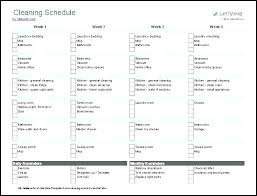 monthly house cleaning schedule template house cleaning schedule template noshot info